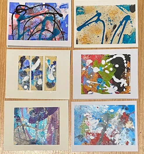 Abstract Greeting Cards
