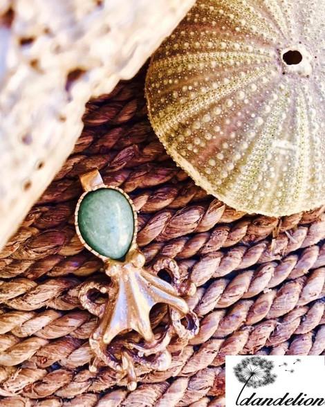 Octopus & Aventurine Pendant