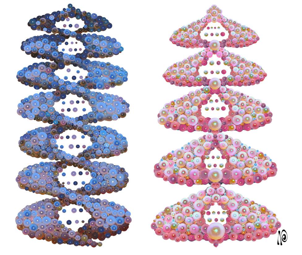 DNA Blue & Pink