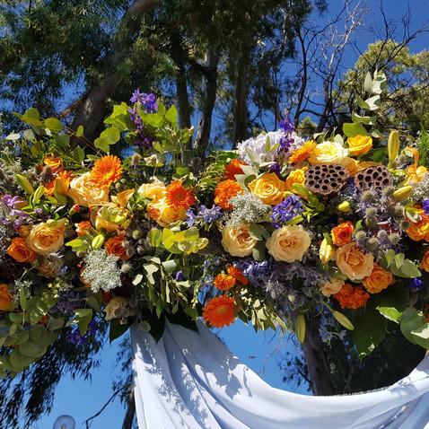עיצוב חופה בחתונה