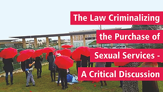 The Law Criminalizing the Purchase of Sexual Services – a Critical Discussion oPicture: Backs of crowd holding opened red umbrellas