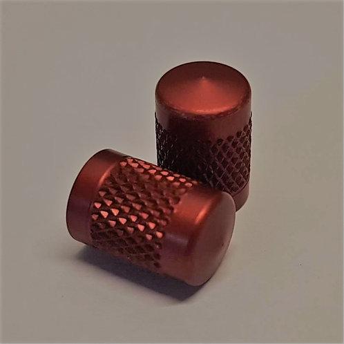 4 x Red Aluminium Valve Caps