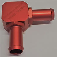 Red Anodized Adjustable 90 Degree Elbow