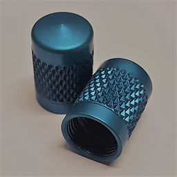 Blue Anodized Valve Cap