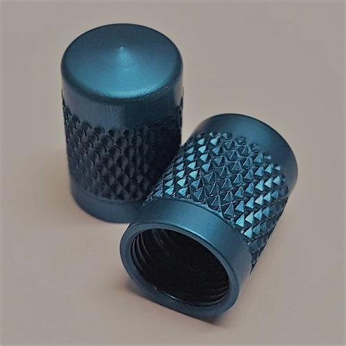 4 x Blue Aluminium Valve Caps