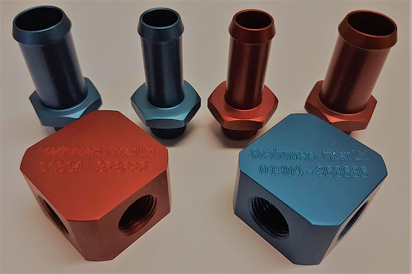 Anodized Adjustable 90 Degree Elbow Components