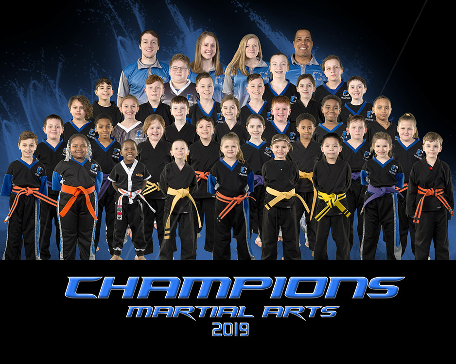 Champions Martial Arts 2019 Team Photo
