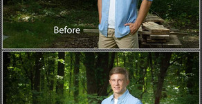 Before and After of a Senior Portrait - Is Editing Neccessary?