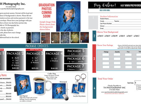 Brand New Cap and Gown Graduation Picture Order Form