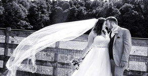 Black & White Wedding Day Image