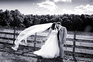 Black and White Bride groom at Old Hickory Farm