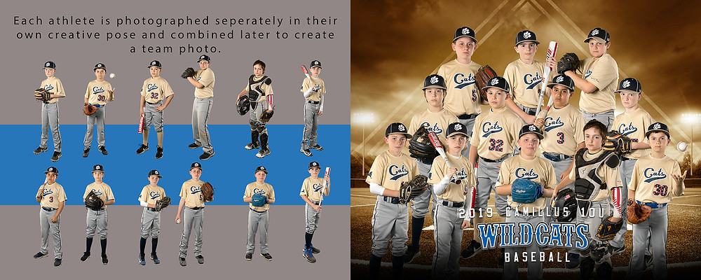 Baseball team composite by TH Photography cny portraits