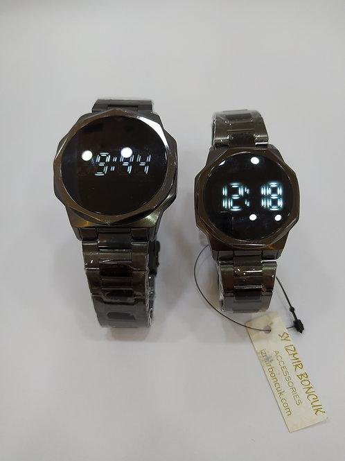 Çift Saati Dokunmatik Çelik Kordon