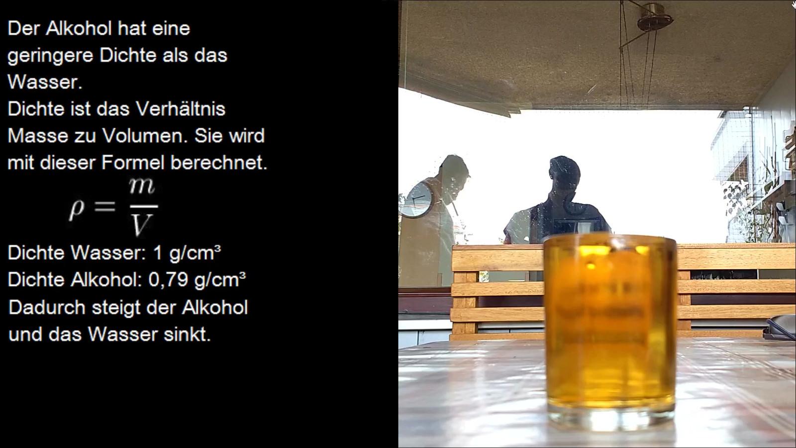 dichte von alkohol