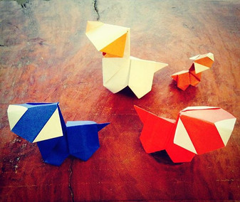Origami  Puppy Dogs