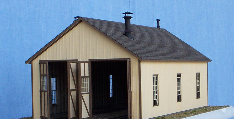 Two-stall enginehouse - S scale