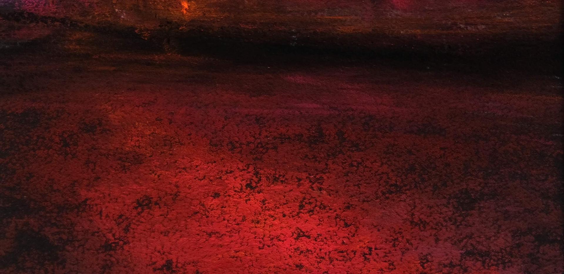 Pastel n°15  Sans titre - Paysages imaginés. 14  x 14 cm Encadré cadre bois 23 x 23 cm - passe partout - rehausse et verre anti reflets  Pastel sec   120 euros