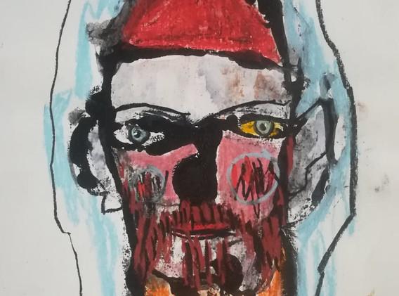 Dessin couleur n°2 21 x 29 cm Acrylique et pastel  Encadré  Réservé