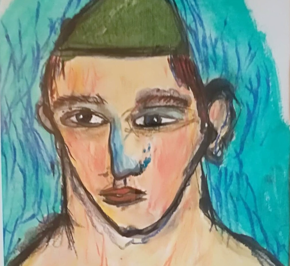 Dessin couleur n°6 dessin 24 x 30 encadré 30 x 40 Acrylique et pastel  160 euros