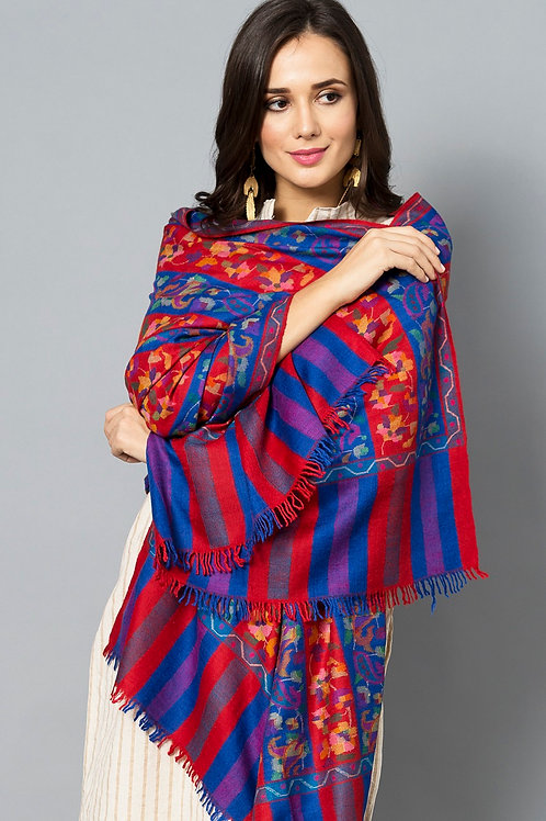 Multi Color Kani Jamawar Pashmina Shawl