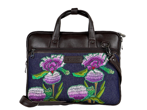 Hand Embroidered Spring Laptop Bag