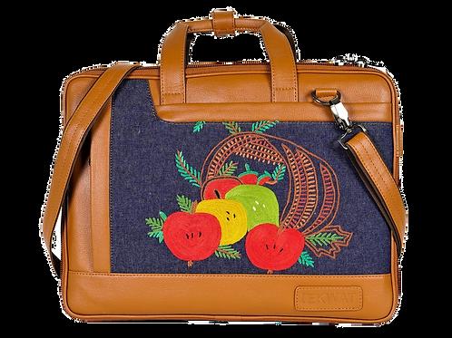 Hand Embroidered Fruit Laptop Bag