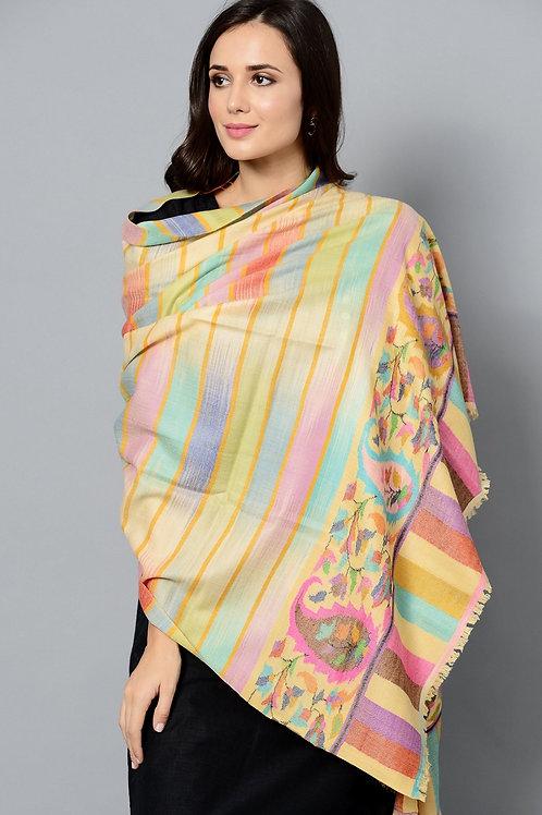 Multi-Color Kani Handwoven Pashmina Shawl