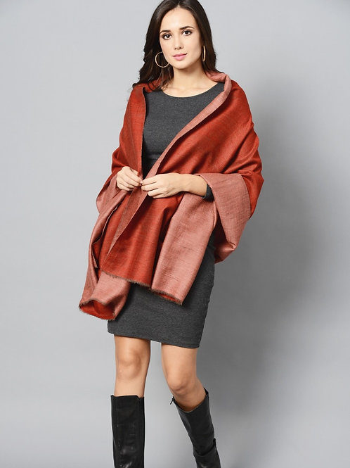 Maroon Colored Double Shade Pashmina Stole