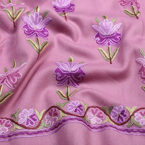 Purple Colour Unstitched Suit