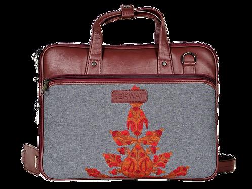 Hand Embroidered Floral Laptop Bag