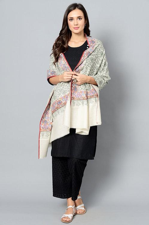Multi Colored Hand-Embroidered Pashmina Shawl