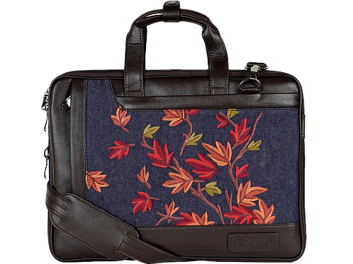Hand Embroidered Autumn Laptop Bag