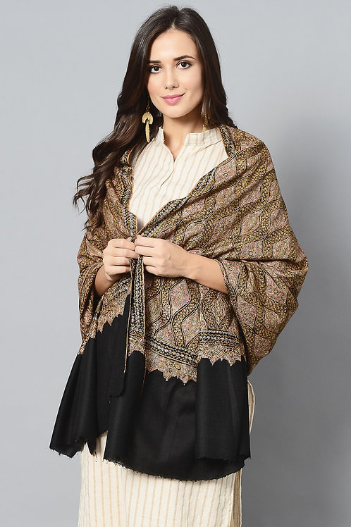 Hand-Embroidered Jamawar Pashmina Shawl