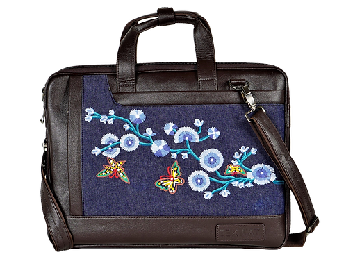 Hand Embroidered Butterfly Laptop Bag