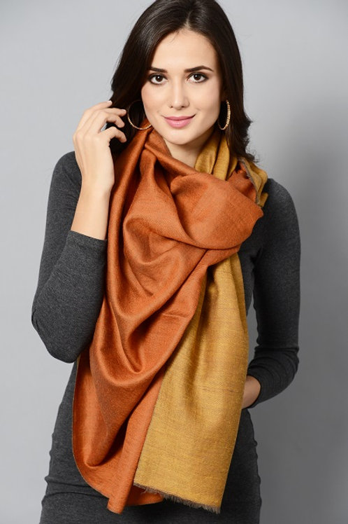 Mustard Colored Double Shade Pashmina Stole