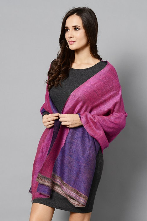 Pink & Purple Double Shade Handwoven Pashmina Stole