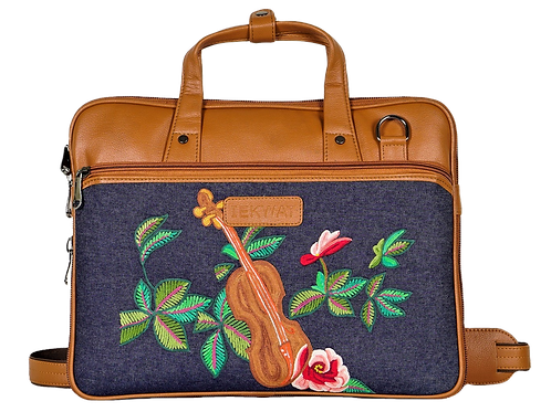 Hand Embroidered Guitar Laptop Bag