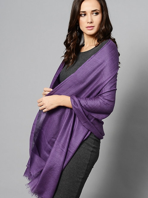 Purple Colored Handwoven Pashmina Stole