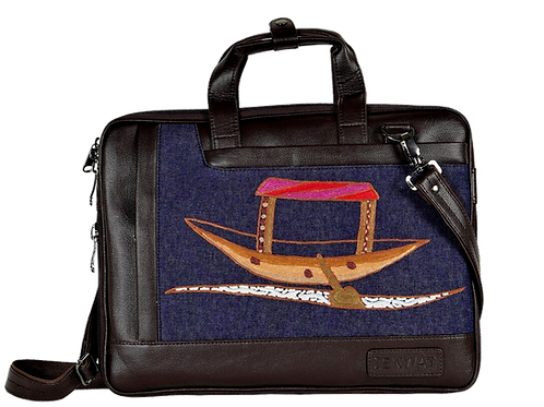 Hand Embroidered Shikara Laptop Bag