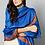 Thumbnail: Blue-Golden Hand-Embroidered Pashmina Shawl