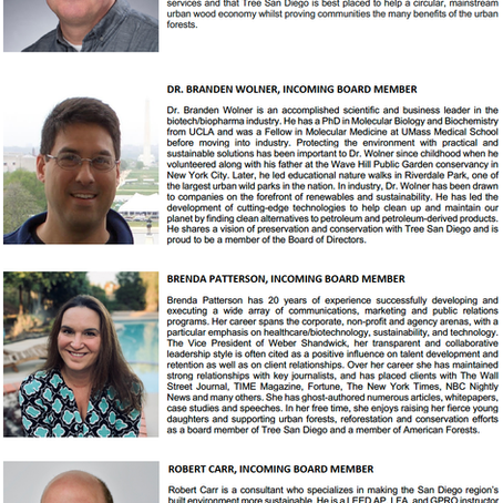 Jan 2021: New TSD Board Members