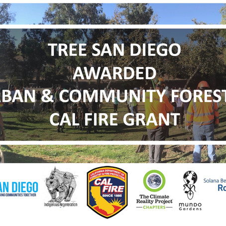 July 2020: TSD Awarded Urban & Community Forestry Cal Fire Grant