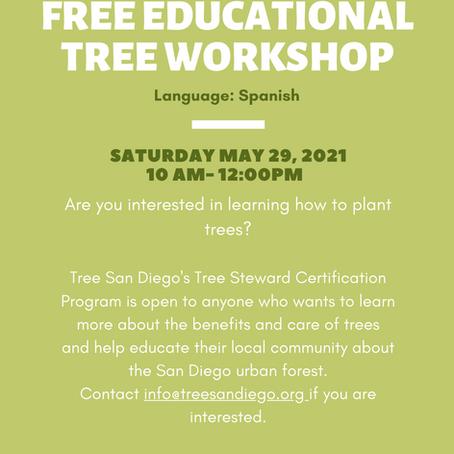 May 2021: Tree Steward Training in Spanish