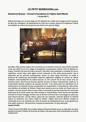 Concert Nohant-en-Graçay - Arnaud Juliot