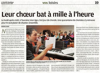 Article chorale TIA - Arnaud Juliot