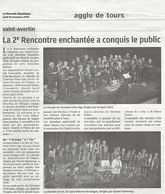 Article concert choral - Arnaud Juliot