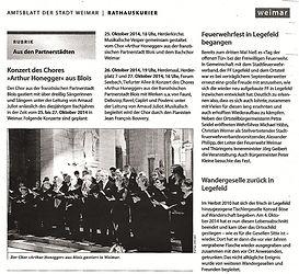 Choeur Honegger à Weimar - Arnaud Juliot