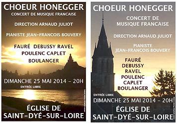 Affiche Choeur Honegger - Arnaud Juliot