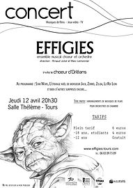 Flyer concert Effigies - Arnaud Juiot