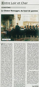Article Choeur Honegger - Arnaud Juliot